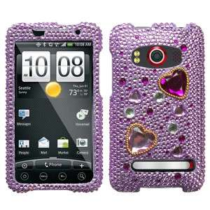 Love Crash Crystal Diamond BLING Hard Case Phone Cover for Sprint HTC