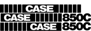 850C Whole Machine Case Crawler Dozer Decal Set