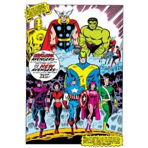 Giant Size Avengers #1 Group Iron Man by Don Heck, 48x72