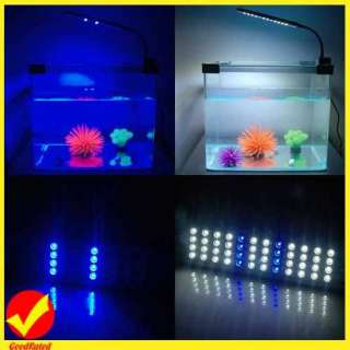 Nice 48 LED Light Saving Energy Aquarium Fish Tank 2 Mode Blue&White