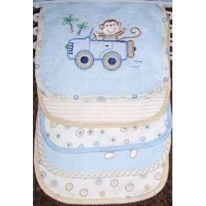 Cutie Pie Baby 5 Pack Baby Bibs Monkey Car Appliques/Embroidered Bib