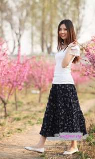 Vtg Boho Ethnic Mexican long sweeping maxi skirt/ dress XS S M