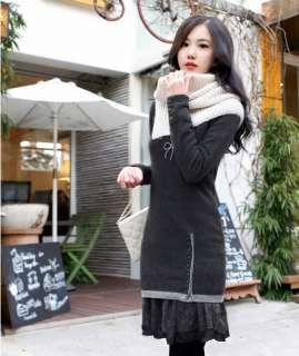 yrfashion Korean Women Fashion Elegant Lace Flounce Cotton Turndown