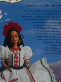 BLACK HAIR FANTASTICA BARBIE MEXICAN DOLL LIMITED EDITION NEW IN SEAL