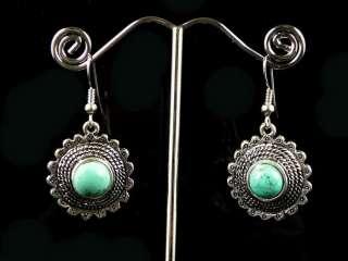 New Premier Design Tibet Nepal Turquoise Earrings