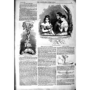 1850 PARIS FASHION PLATE PRESENTATION ADDERLEY CAPE