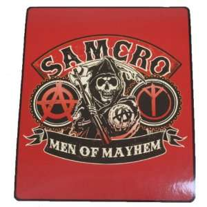 Sons of Anarchy Samcro Men of Mayhem Fleece Throw Blanket