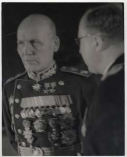 WW2 RUSSIAN ARMY MARSHAL VICTORY PARADE UNIFORM PHOTO