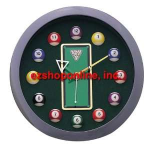Pool Time Snooker Ball Number Neon Clock Home & Kitchen