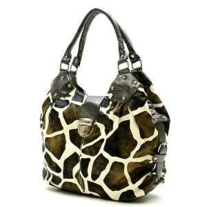 Giraffe Print Designer Inspired Handbag Everything Else