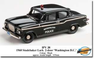 BROOKLIN 1960 STUDEBAKER LARK POLICE CAR WASHINGTON DC IPV 38