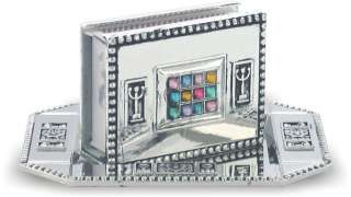 Jewish JUDAICA Shabbat Nickel MATCH BOX HOLDER Israel Gift