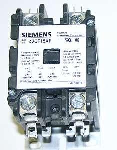 Furnas 42CF15AF 2 Pole 120V Definite Purpose Contactor Controller