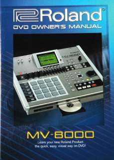 Roland MV 8000 DVD Owners Manual (MV8000 DVD Owners Manual)