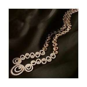 Banquet Wedding Dress Chain Gold Necklace With Earrings Jewelry Set