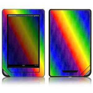 Nook Color Decal Sticker Skin   Rainbow