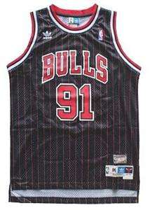 Dennis Rodman #91 Chicago Bulls Swingman Jersey Black Retro