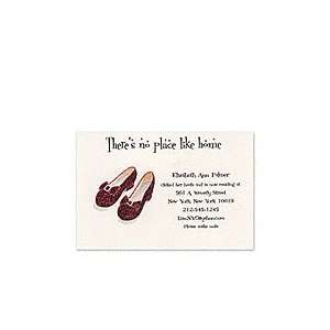Ruby Slipper & Red Glitter Moving Party Invitations