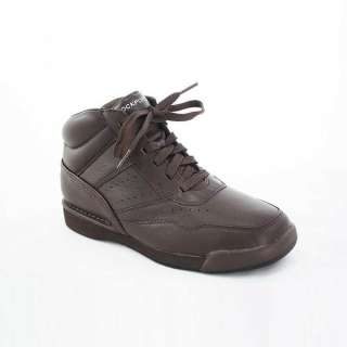 Rockport Mens 7100 High Brown Leather Sneakers