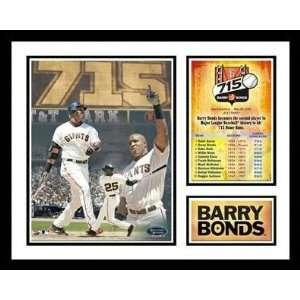 Barry Bonds San Francisco Giants   715th HR   Framed