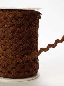 yd~1/4 Chocolate Brown Ric Rac Ribbon Trim Rick Rack