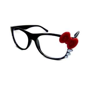 Hello Kitty Bow Tie Clear Lens Glasses Sunglasses