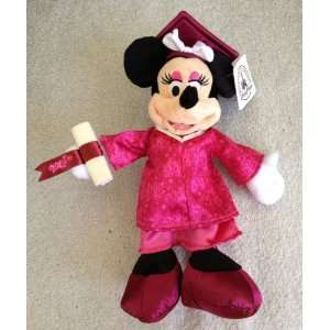 Disney 10 Minnie Mouse Plush Doll Graduation 2012 Class of 2012 Theme