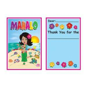 Hula Baby Thank You Notes (envelopes included) Party Accessory (1