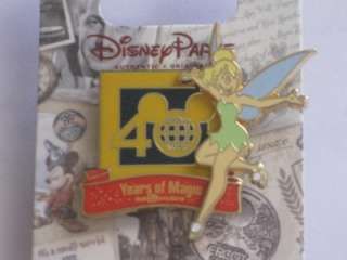 Disney Pin ~ 40 Years of Magic Tinker Bell 3D Logo New