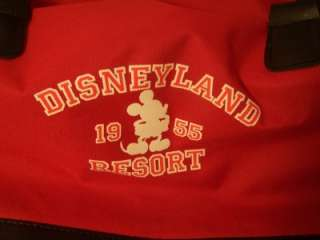 Disney Parks Disneyland Resort Mickey Mouse Red Duffle Gym Bag