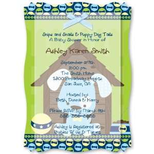 Boy Puppy Dog   Personalized Vellum Overlay Baby Shower