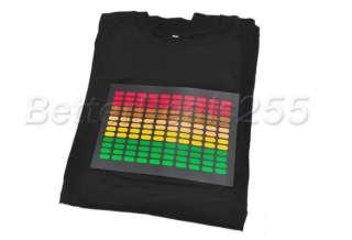 Light Up LED Sound Activated Flashing T SHIRT Size M DJ