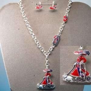 Red Hat (Womens Heart Disease) ~ Necklace & Earrings Set