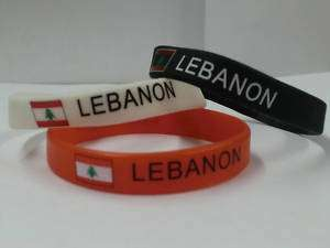 Lebanon Bracelet / Wrist Bands / Lebanon Flag