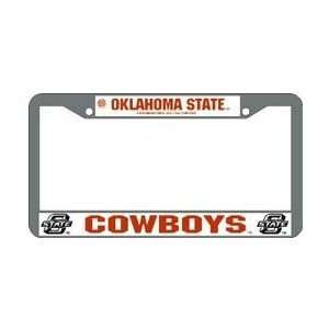 Oklahoma State Cowboys Chrome License Plate Frame   Set of