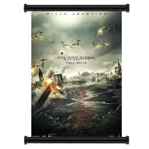 Resident Evil Retribution 2012 Movie Fabric Wall Scroll