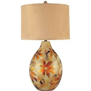 Table Lamp   Dourado Series Reverse Painted Gold Glass