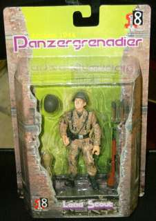 Dragon 1/18 scale WWII German Army Soldiers Panzergrenadier Set of 4