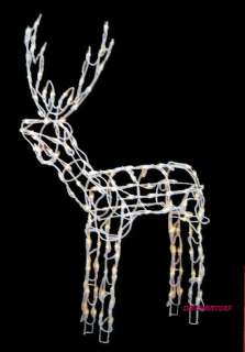48 PRE LIT DEER 150 LIGHTS CHRISTMAS YARD DECORATION