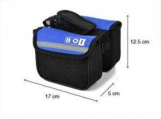 Cycling Bike Sports Bicycle Frame Pannier Front Tube Double Saddle Bag