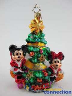 Christopher RADKO Mickey & Minnie Mouse Christmas 2002 Ornament