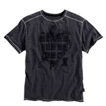 Harley Davidson Men's Short Sleeve RAW EDGE Tee 96006 10VM