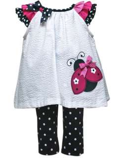 Rare Editions Baby Girls Spring Summer Ladybug Dress Outfit Set