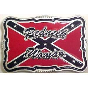 Redneck Woman Rebel Flag Ladies Belt Buckle Dixie: Sports