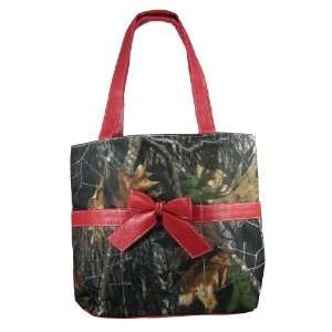 Camouflage Diaper Bag & Changing Pad Red Trim Baby: Baby