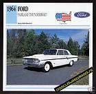 1964 FORD FAIRLANE THUNDERBOLT Car PICTURE SPEC CARD