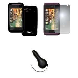 EMPIRE Verizon HTC Rhyme Black Silicone Skin Case Cover