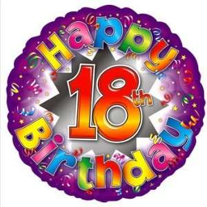 Happy 18Th Birthday Explosion 18Inch Foil Balloon: Toys & Games