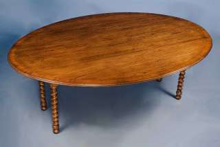 English Antique Style Solid Oak Drop Leaf Dining Table