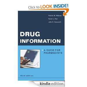 Drug Information A Guide for Pharmacists (Malone, Drug Information